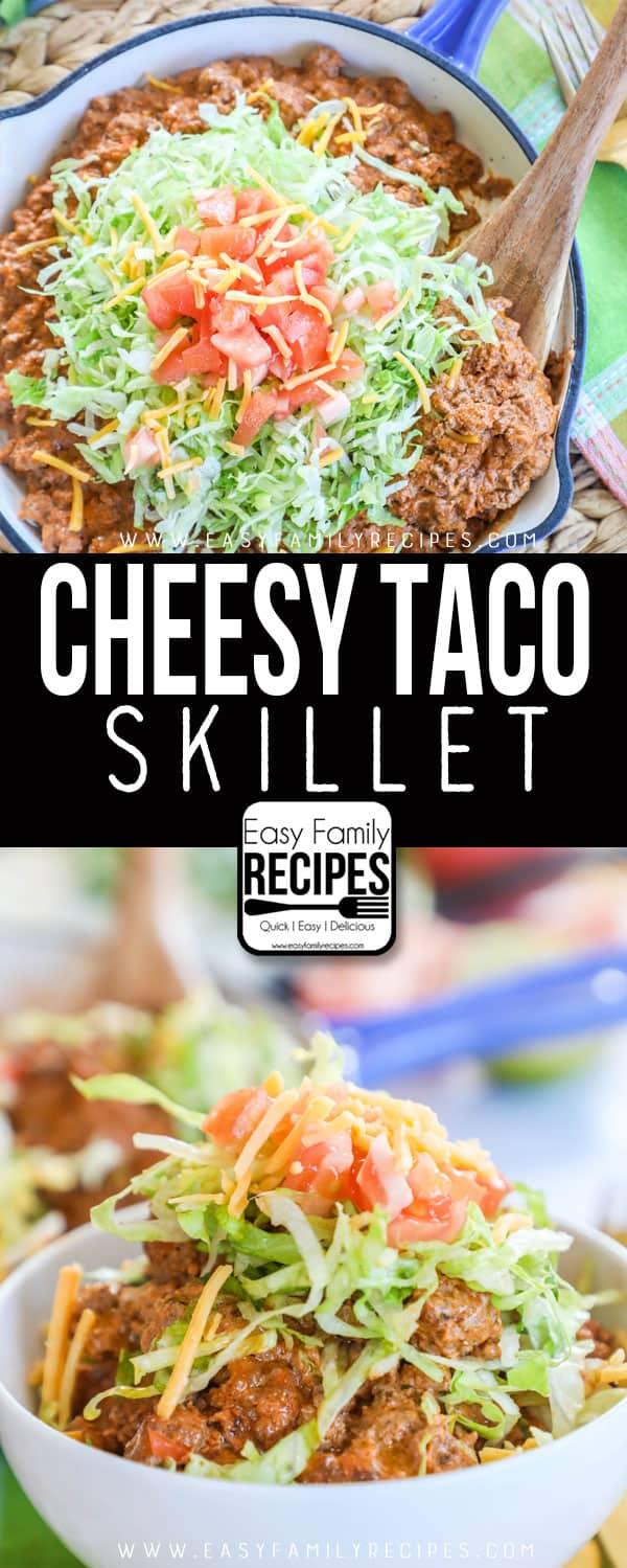 Taco Skillet Dinner served in bowls.
