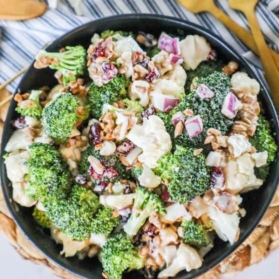 Recipe for Broccoli Cauliflower Salad