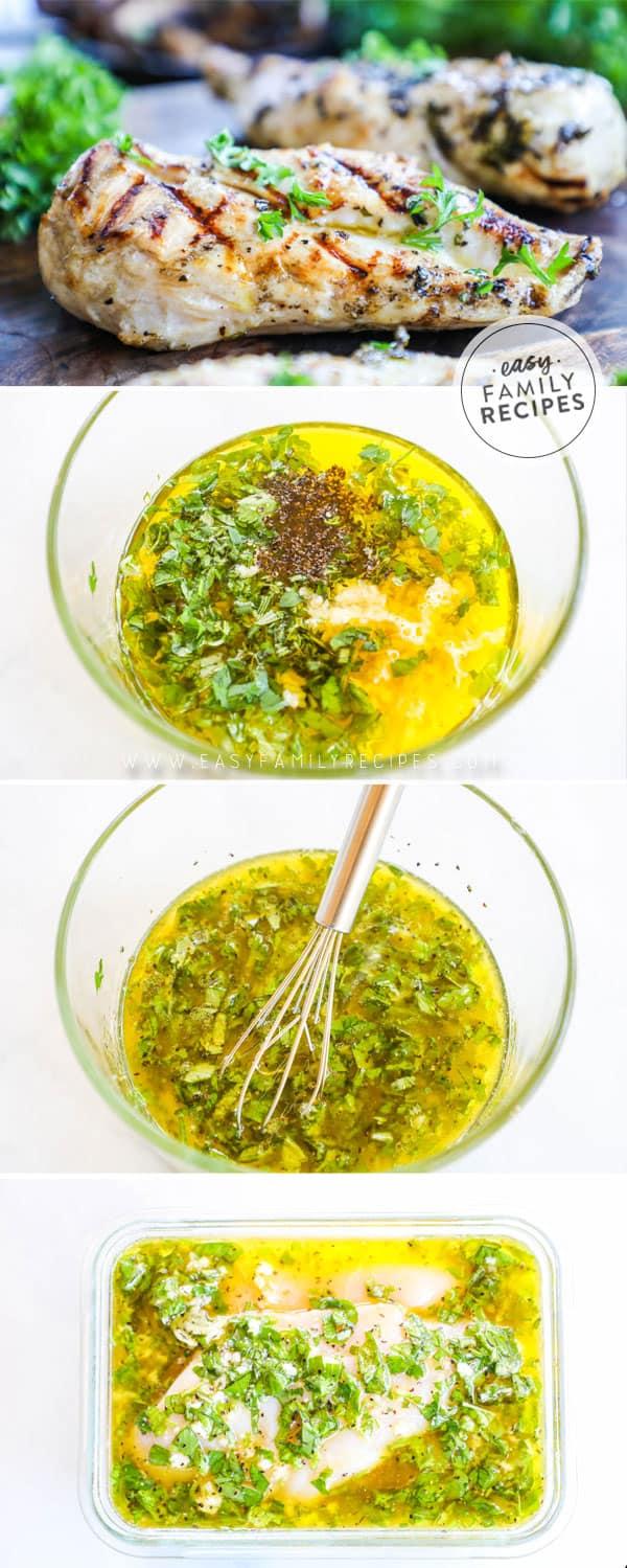 Steps to making Apple Cider Vinegar Marinade for tender juicy grilled chicken