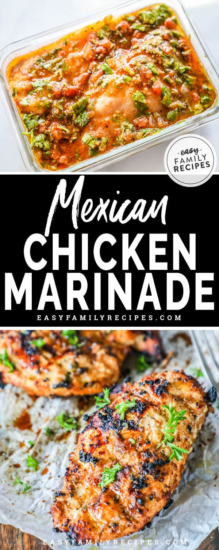Chicken Marinating in Mexican Chicken Marinade