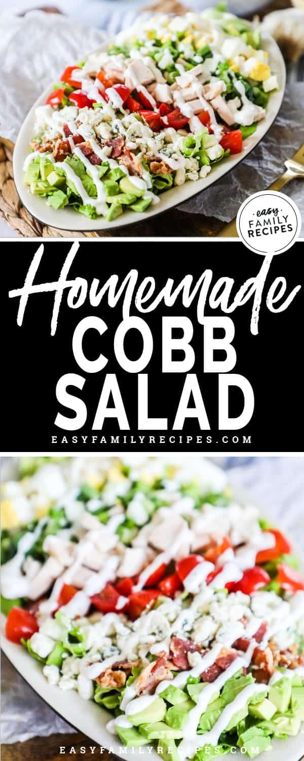 Homemade Chicken Cobb Salad Is the perfect light meal.