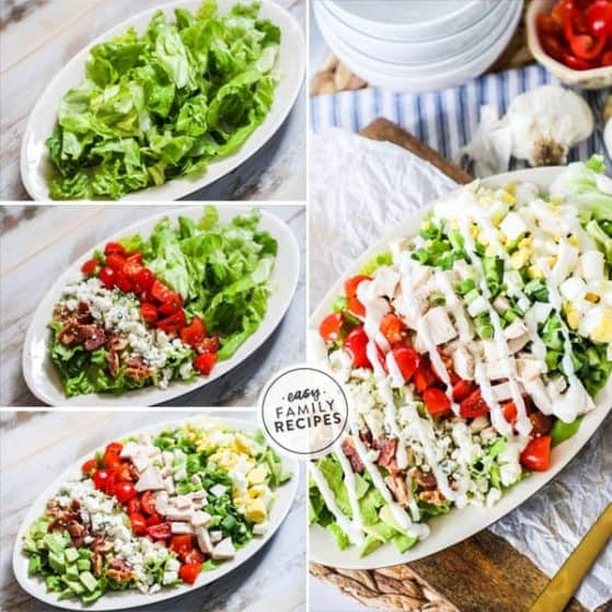 Delicious and wholesome chicken Cobb Salad.