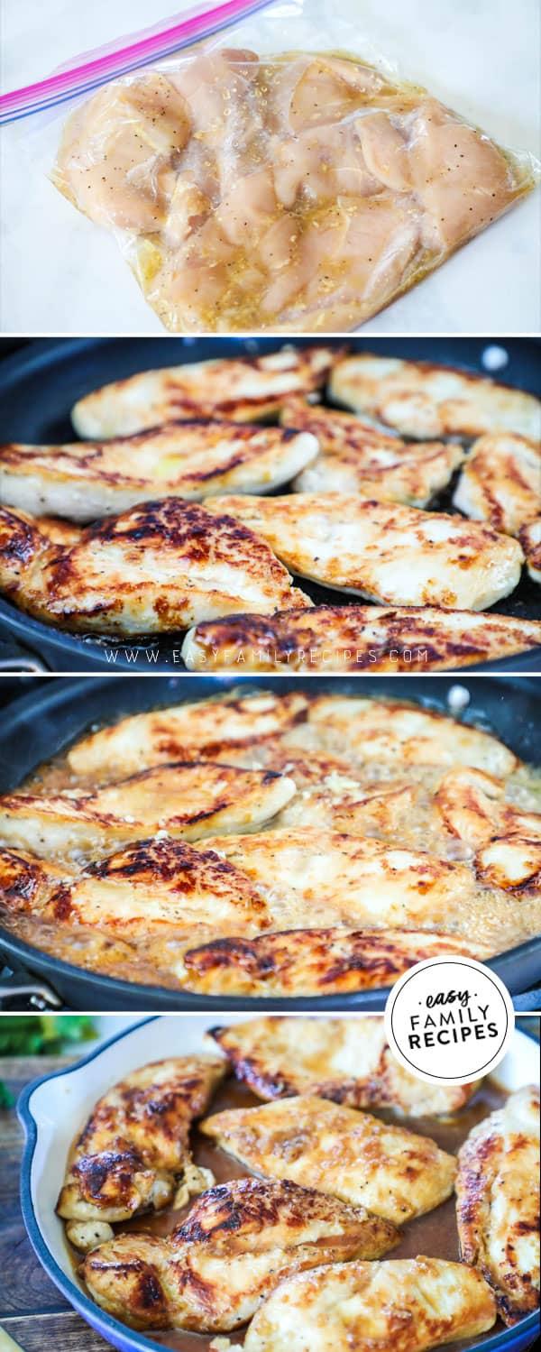 Steps to make the BEST Honey Garlic Chicken