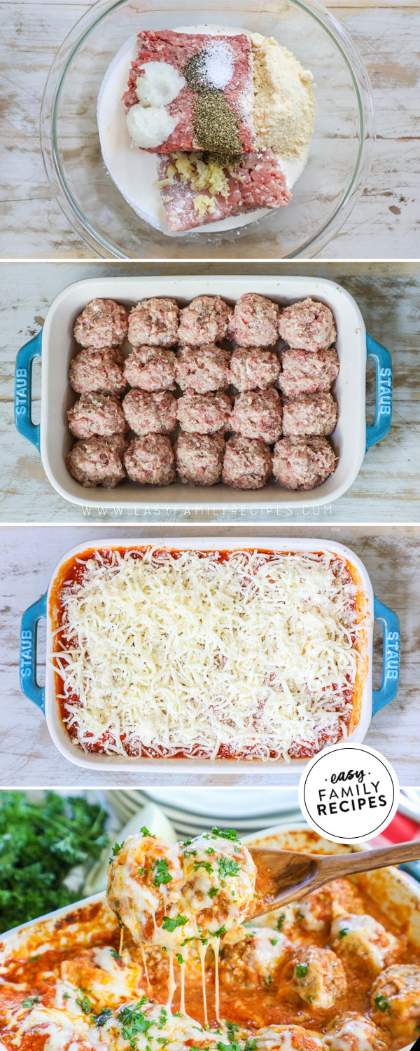 How to Make Meatball Parmesan Bake in Casserole