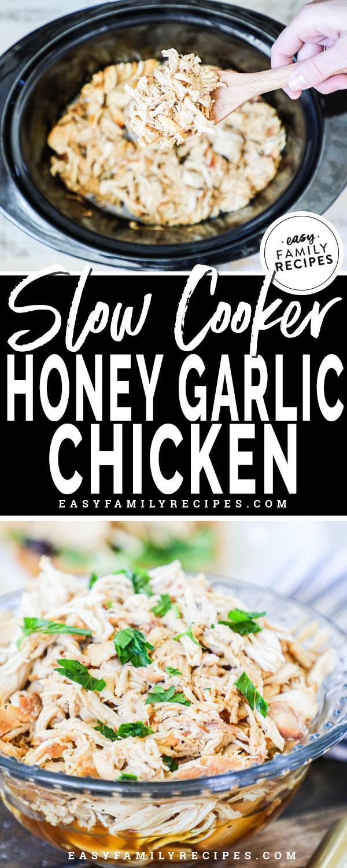 Honey Garlic Chicken in the slow cooker