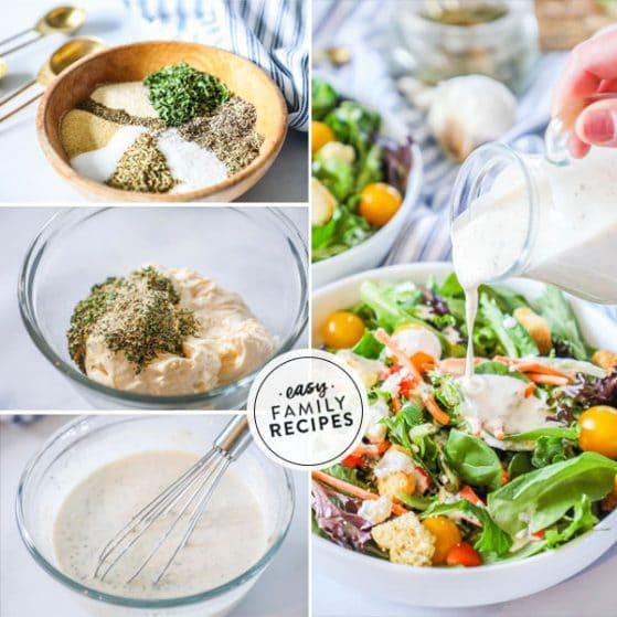 steps for making creamy Italian Salad Dressing at home