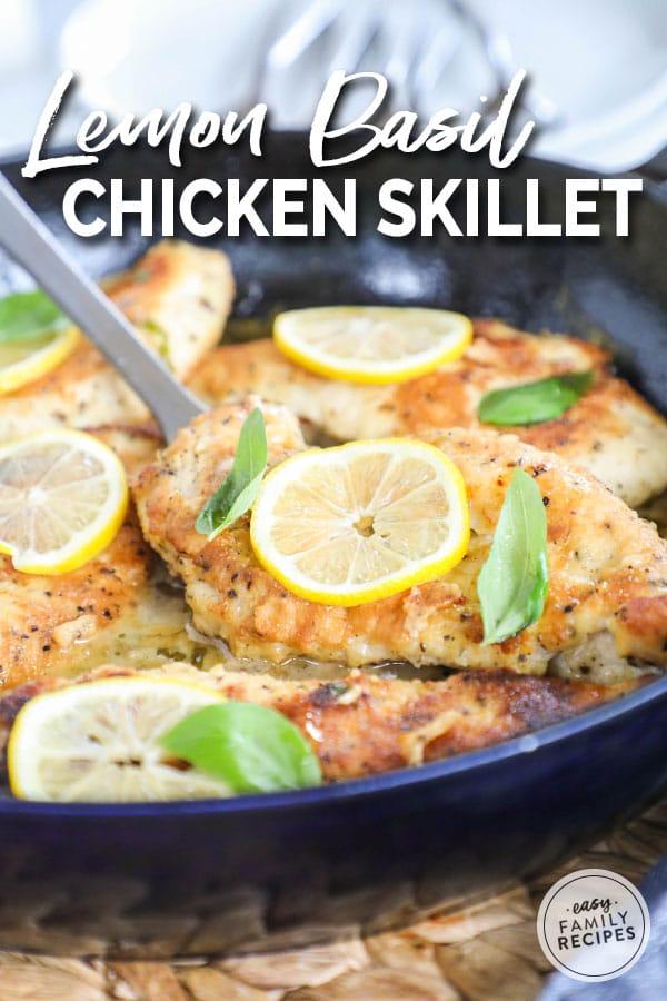 Chicken breast in a lemon butter sauce