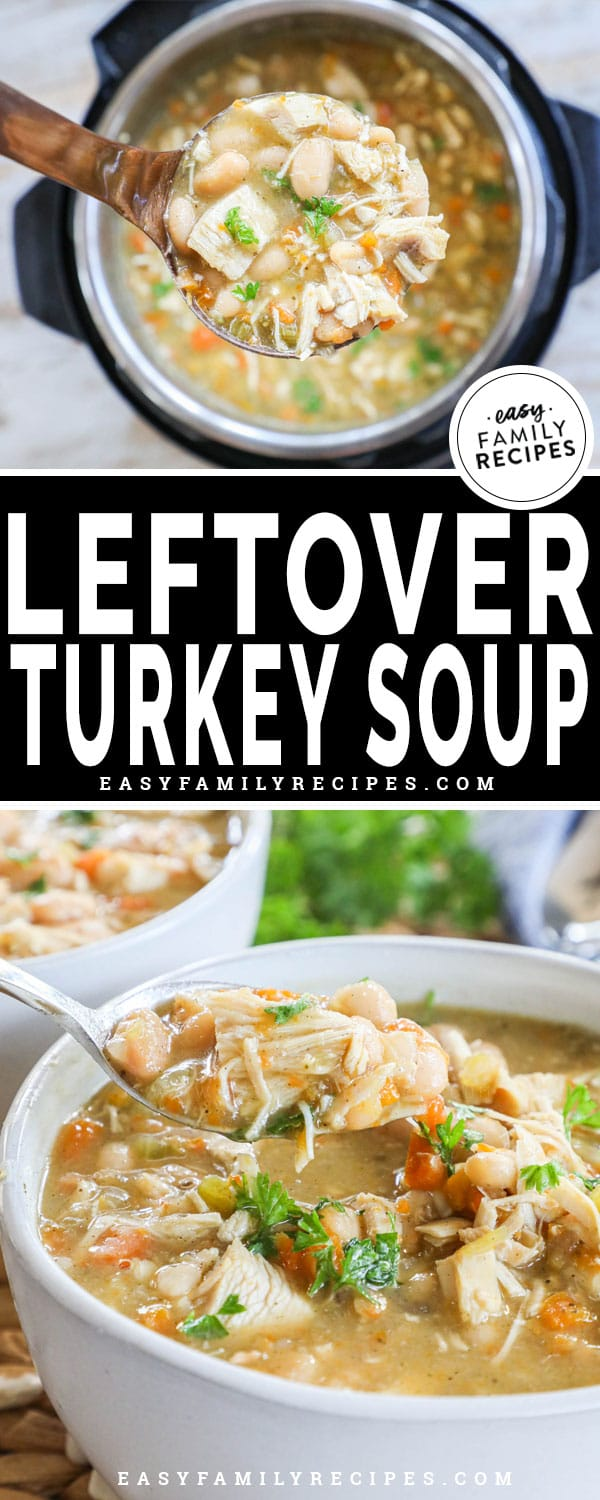 Soup made leftover turkey in the Instant Pot