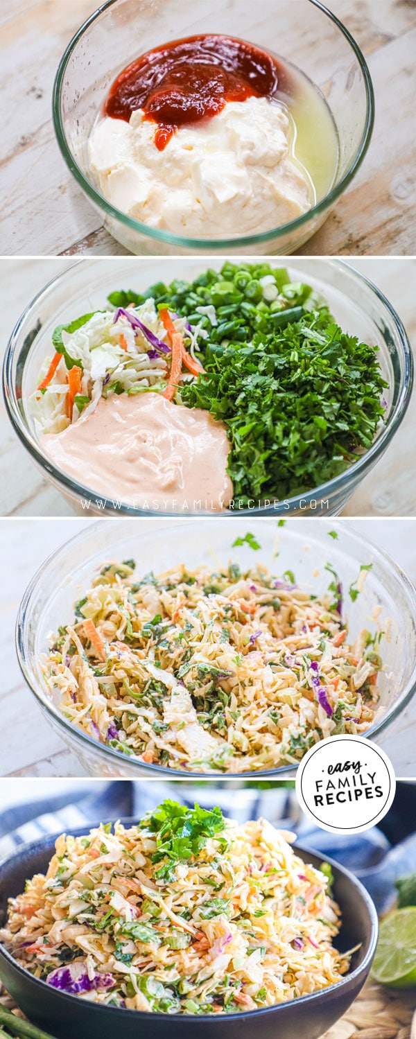 process photos for how to make spicy asian coleslaw