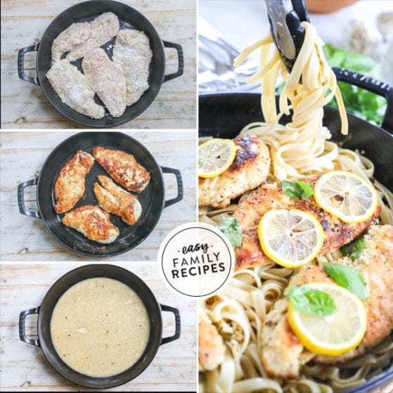 steps for making chicken in pan with lemon