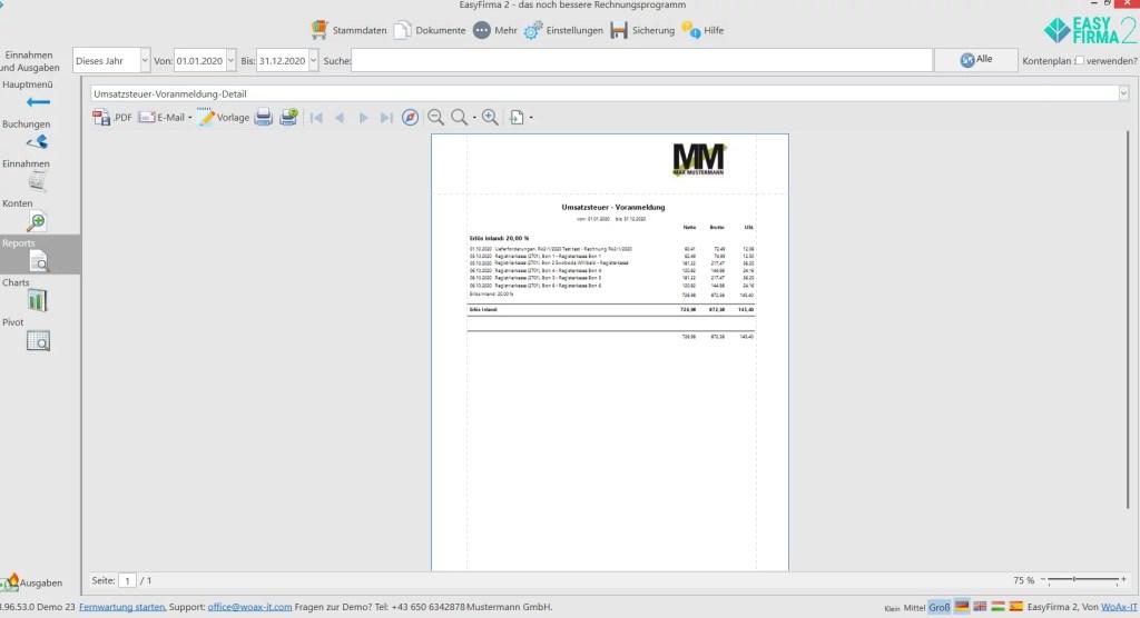 Umsatzsteuer-Voranmeldung-Detail