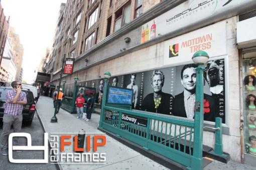 Easy Banner Frame at 10th ave Subway, Giant Billboard at subway, Subway Advertising, Billboard Banner Frame