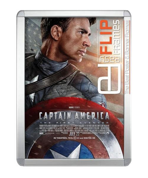 Round Corner Flip Frame - Captain America