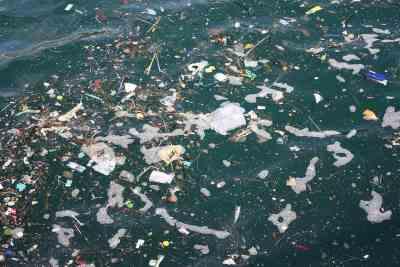 plastik-schwimmend