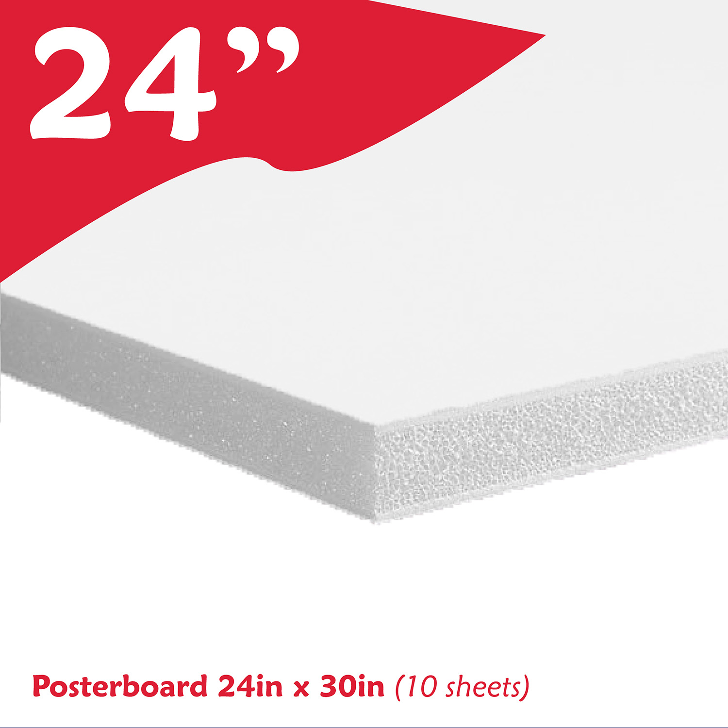 Posterboard 24in X 30in 10 Sheets Easy Graphics