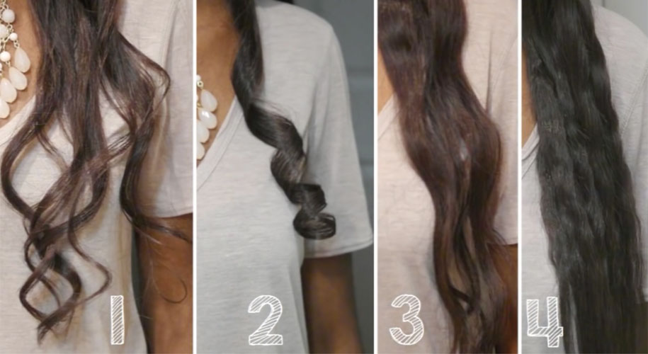 WATCH 5 Easy CurlsWaves Using A Flat Iron How To Curl