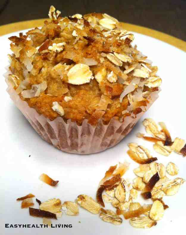 High Protein Oat Muffins with Coconut and Flax