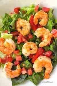 cajun shrimp on salad