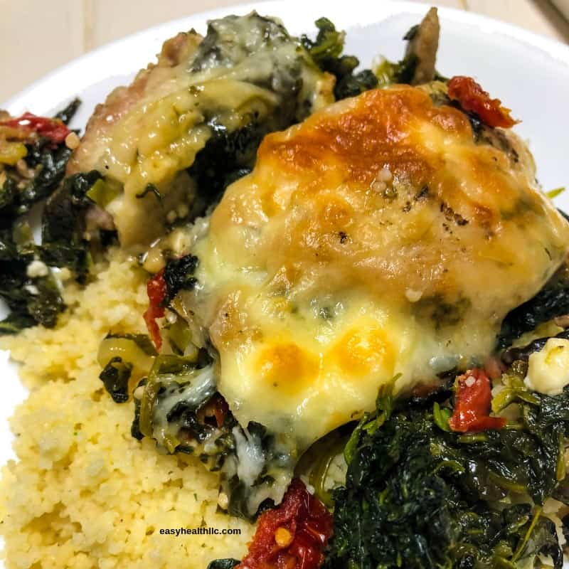 baked Greek chicken with couscous