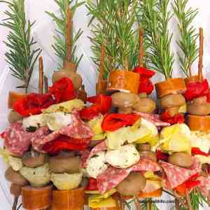 rosemary skewers close up