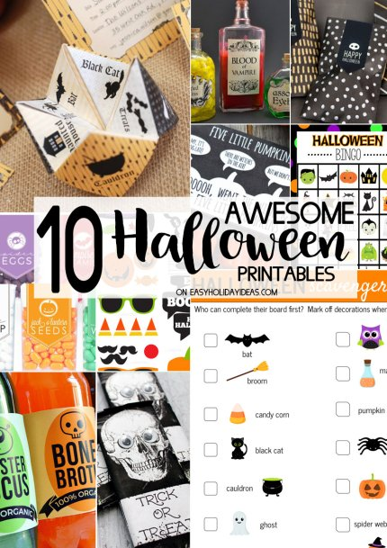 Awesome Halloween Printables