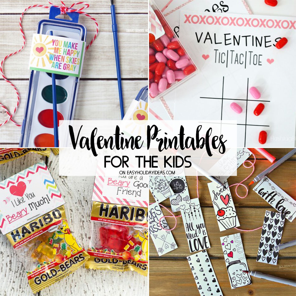 Valentine Printables for the Kids