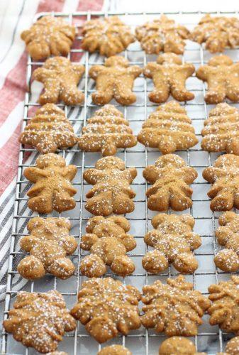 Gingerbread Spritz Cookies