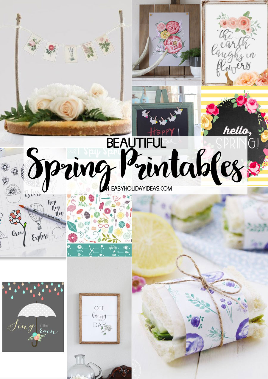 Beautiful Spring Printables