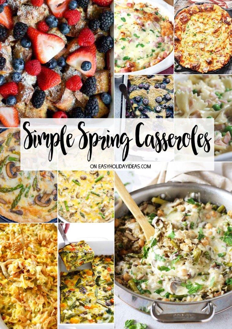Simple Spring Casseroles
