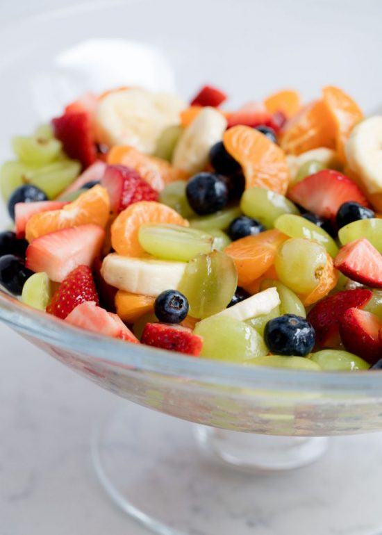 There's nothing quite like indulging in fresh fruit in the summer time, and this gussied up Rainbow Fruit Salad with Citrus-Honey Dressing and Fresh Mint is a colorful and delicious way to enjoy it!