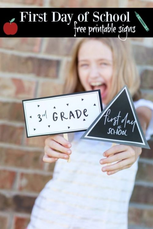 Back to School Signs and Photo Props make for a fun memory to look back on year after year, and see what they chose to wear on the first day, and just how they look!