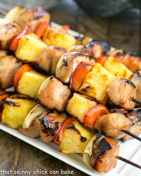 A simple marinade transforms ordinary boneless, skinless chicken into these splendid Honey Glazed Chicken Kabobs!