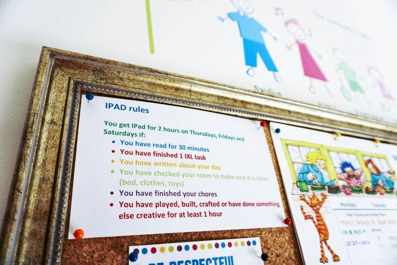 IPad rules 1