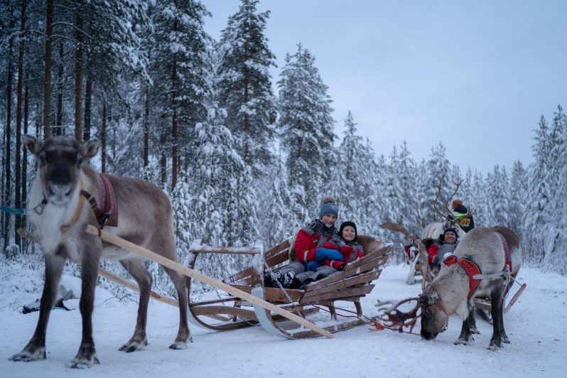 Santa Claus Village reindeer ride