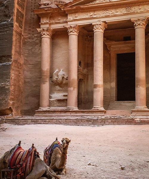 Petra with kids