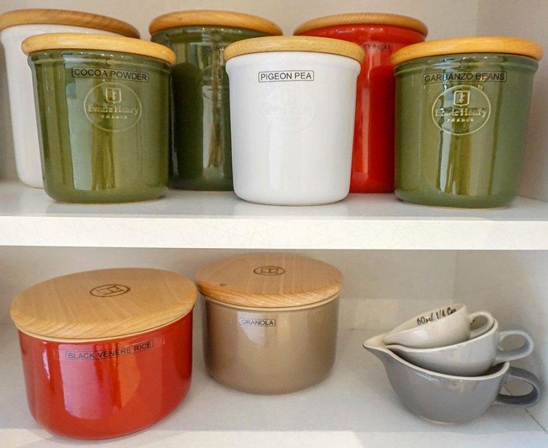 My kitchen set up - jars