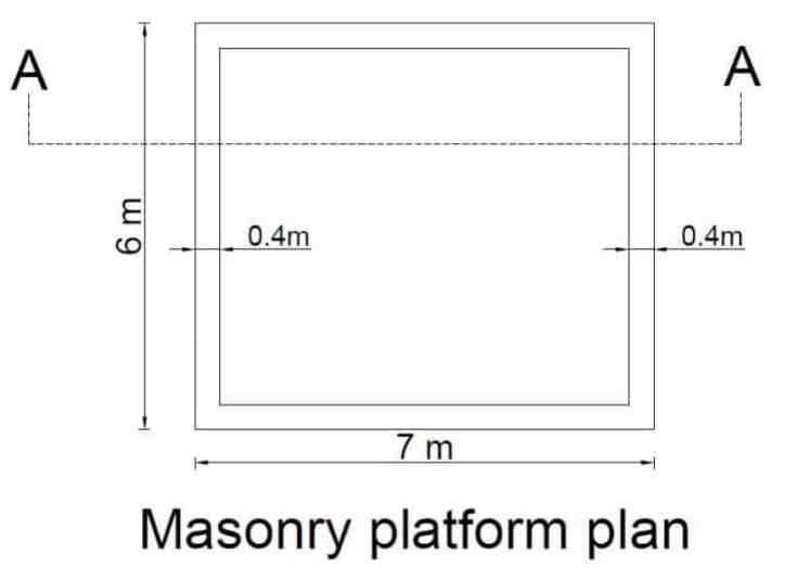 masonry platform plan