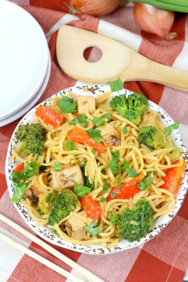 Instant Pot Lo Mein Spicy Thai