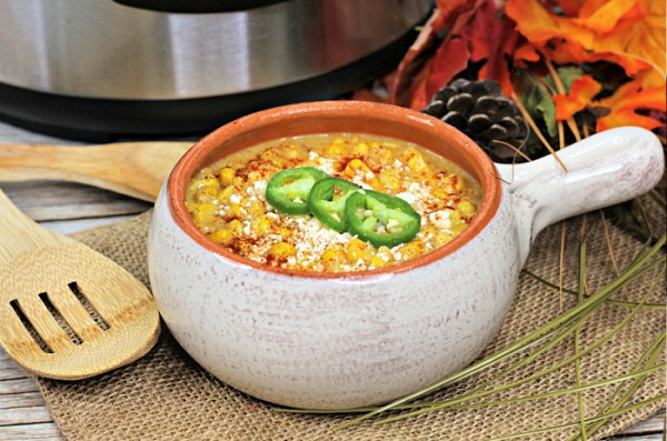 Mexican corn chowder in the Instant Pot
