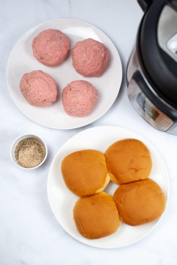 Instant Pot Turkey Burgers Ingredients