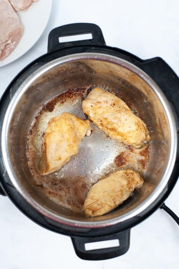 Sauté the chicken