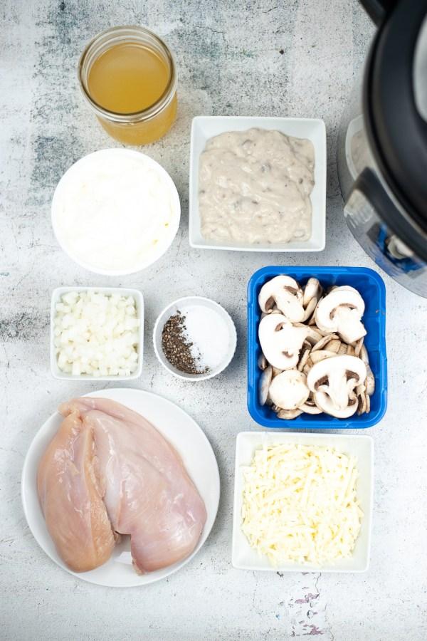 Instant Pot Chicken Tetrazzini Ingredients