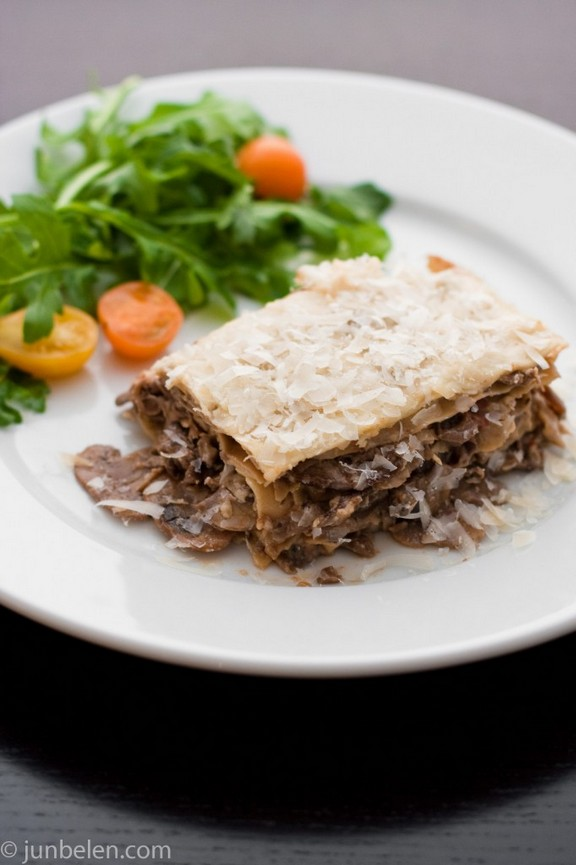 Lasagne with Porcini Mushrooms recipe photo