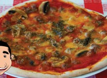 Italian Sausage Pizza Recipe - Mushroom and Sausage Pizza (VIDEO)