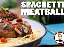 MEATBALLS AND SPAGHETTI RECIPE - Italian-Inspired Tomato Pasta (VIDEO)