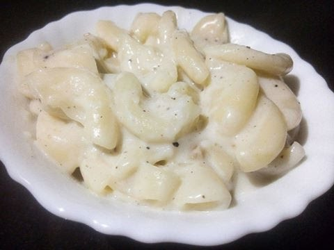Pasta in White Sauce,Creamy Cheesy Pasta, Easy And Quick Italian Recipe!!! (VIDEO)