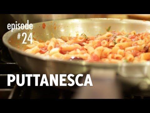 Puttanesca recipe penne spaghetti pasta how to make the puttanesca recipe penne spaghetti pasta how to make the authentic classic italian dish video easy italian recipes forumfinder Image collections