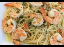 Shrimp Scampi - A Delicious Italian Pasta Dish With Lot's Of Garlic, Wine, Butter, Parsley (VIDEO)