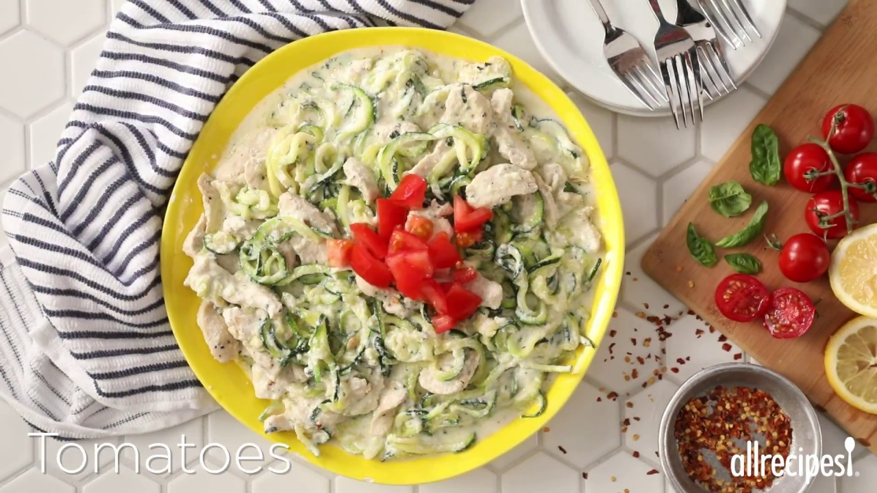 How to Make Lemon Herb Chicken with Zucchini Pasta and Ricotta   Zoodle Recipes (VIDEO)