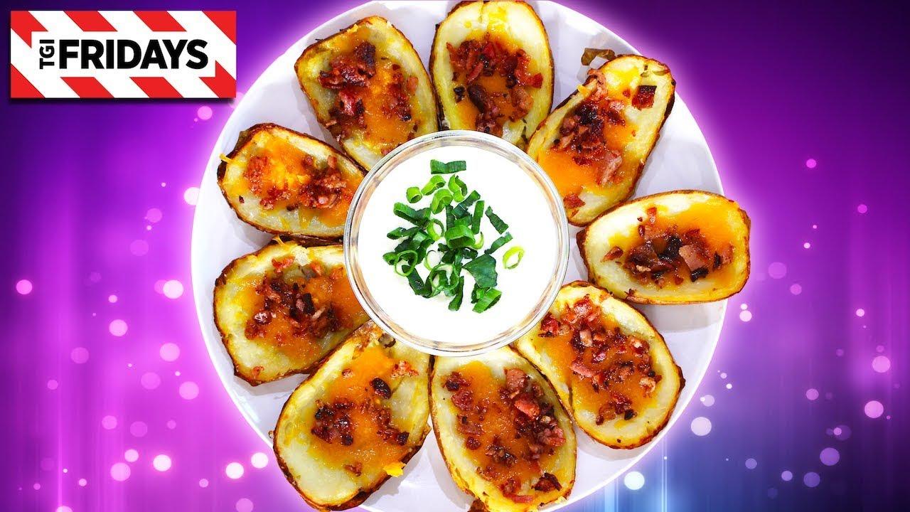 TGI Fridays Loaded Potato Skins | Homemade Recipe (VIDEO)